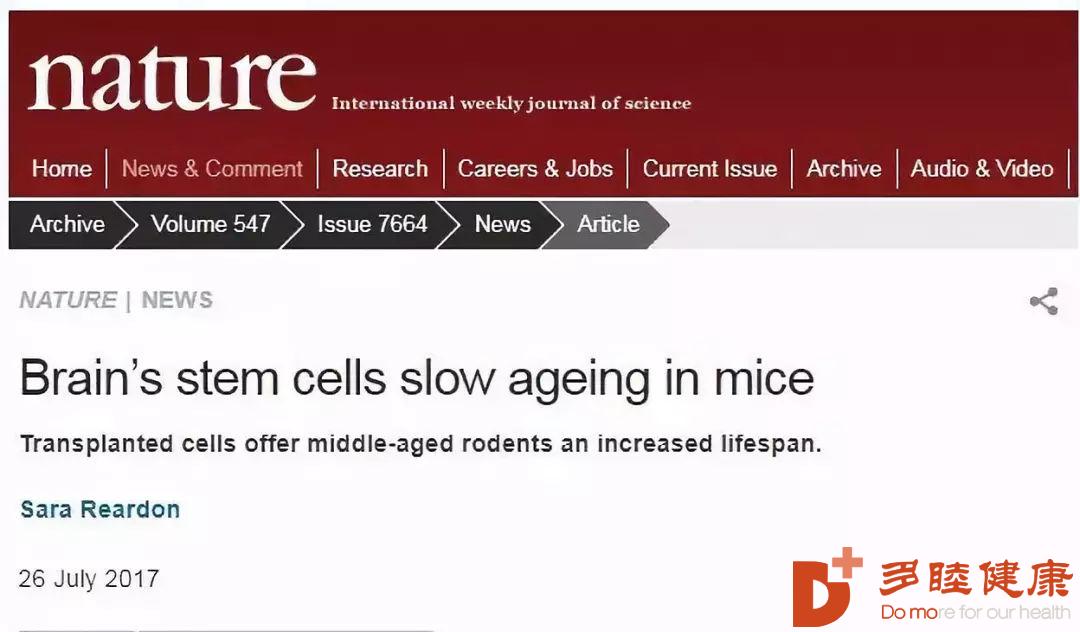 干细胞治疗:说好一起变老,你却偷偷做了干细胞抗衰